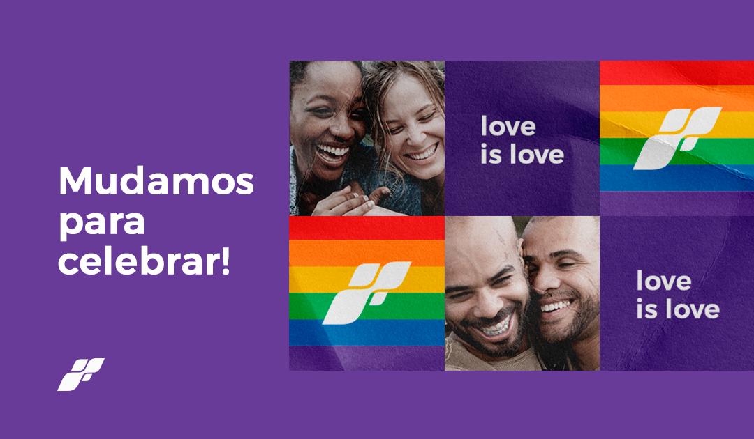 Haco faz versão do logotipo nas cores da bandeira LGBT+